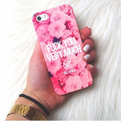 jewels,iphone,phone cover,flowers,pink,iphone case,watch