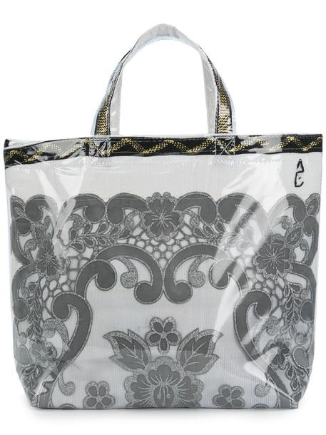 Comme des Garçons Comme des Garçons women bag tote bag white cotton