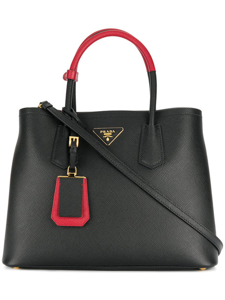 Prada - Galleria saffiano tote - women - Calf Leather - One Size, Black, Calf Leather