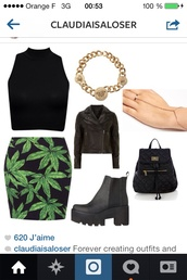 skirt,drugs,bag,jewels,shoes,indie,hipster,polyvore,instagram,weed,mini backpack,black backpack