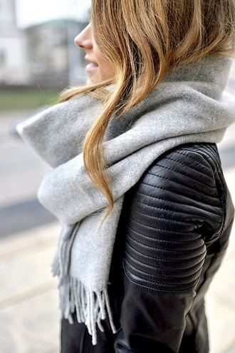 le fashion image blogger scarf tights jacket