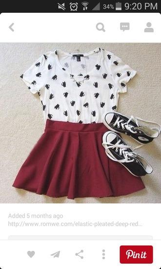 t-shirt cat shirt cat tee cats cute top hipster skirt