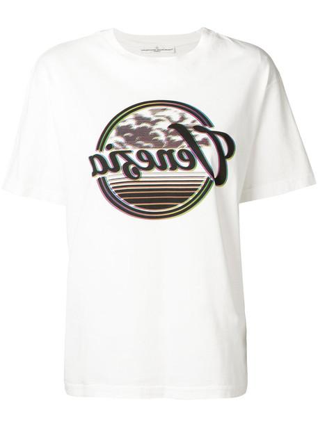 Golden Goose Deluxe Brand - short sleeve printed T-shirt - women - Cotton - S, White, Cotton