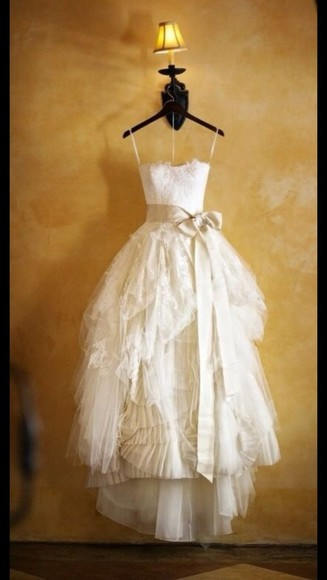 cute lace ribbon dress vintage long dress long prom dress wedding dress