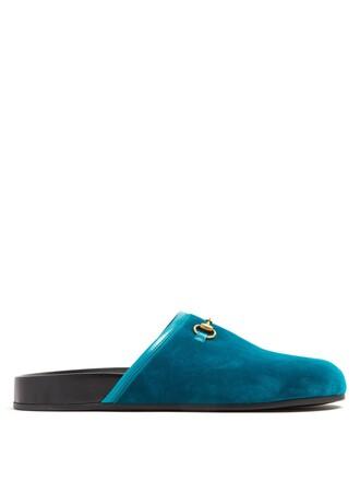 new loafers velvet blue shoes
