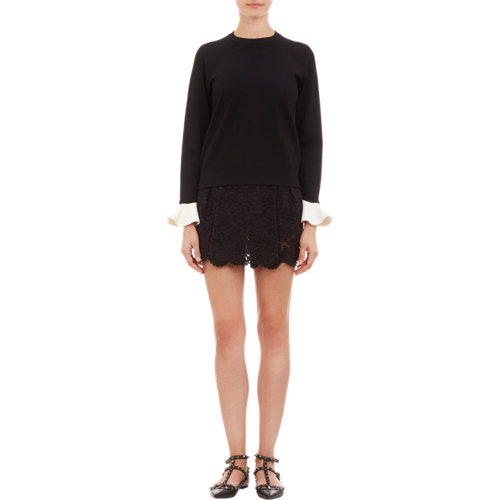 Cuff doubleknit sweatshirt at barneys.com