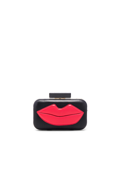 alice + olivia clutch black