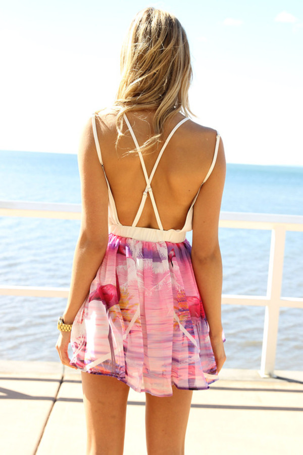dress beach summer cruise ocean openback open back dresses