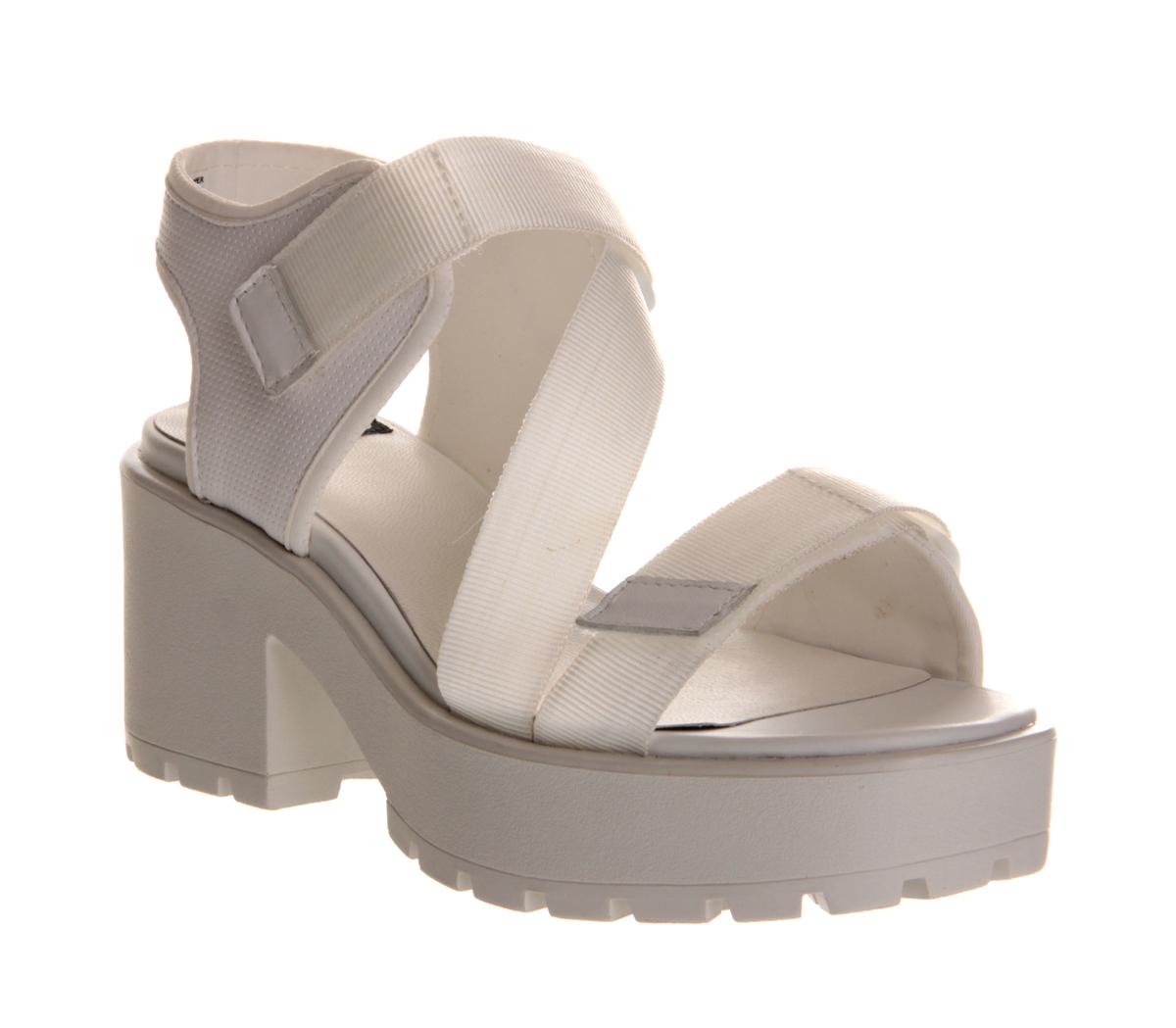 Black vagabond sandals - Vagabond Dioon Sandal White Mid Heels