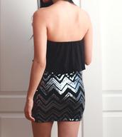 dress,sequin dress,bodycon dress,strapless dress,party dress,little black dress