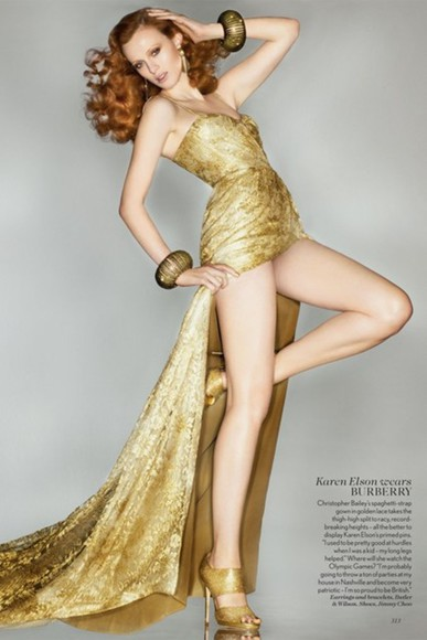 burberry gold dress gown