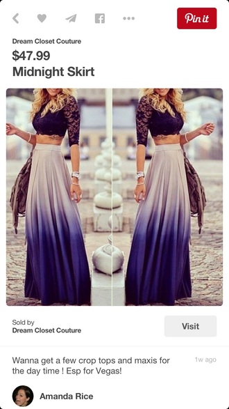 skirt maxi skirt sexy purple purple ombre skirt