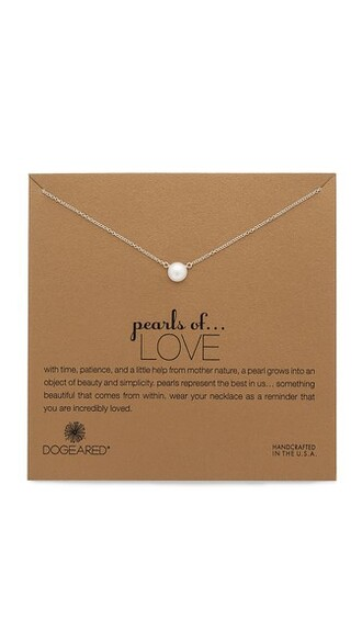 love pearl necklace gold jewels