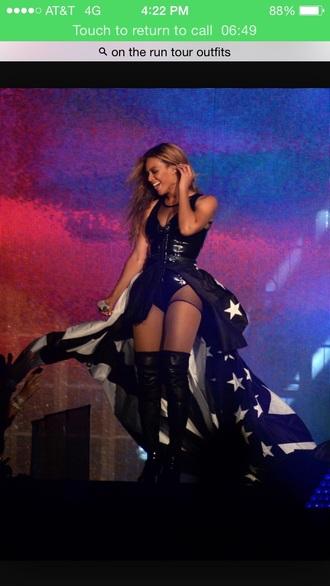 jumpsuit beyonce black american flag