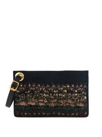 embellished clutch black bag