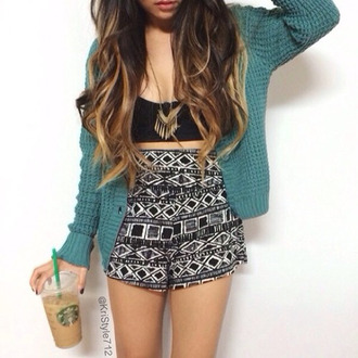 shorts sweater blouse cardigan crop tops mosaic
