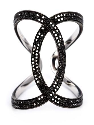 women ring black jewels