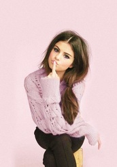 sweater,pink,knitted sweater,purple