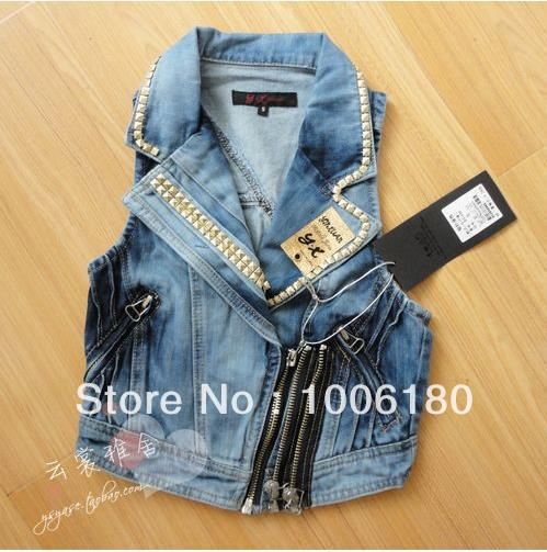 Aliexpress.com : buy free shipping 2013 fashion jean vest for women natural raccoon fur collar denim vest fur vest waistcoat gilet wholesale from reliable vest fishing suppliers on clothes shopping