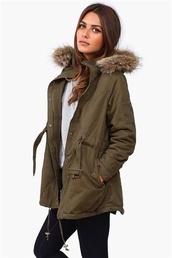 jacket,army green jacket,fur,utility jacket