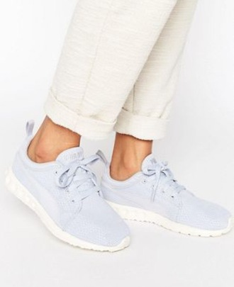 shoes puma blue blue shoes sneakers