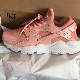 shoes custom nike huarache rose gold pearl pink pink huraches light pink huaraches baby pink pink sneakers rose rose huarache