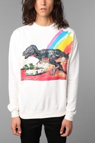 sweater dope dinosaur rainbow