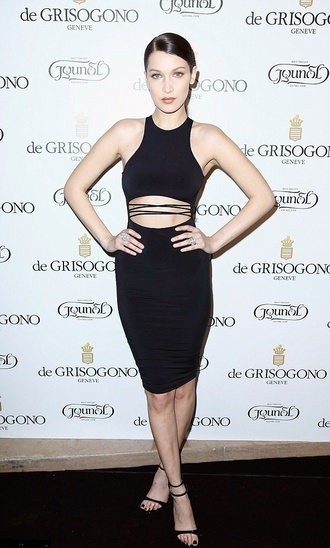 dress cut-out dress bodycon dress sandals bella hadid two piece dress set cut-out shoes