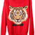 ROMWE | Tiger Head Red Jumper, The Latest Street Fashion