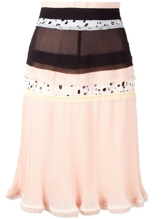 skirt pleated skirt pleated patchwork women nude
