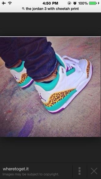 shoes jordans clothes blue cheetah print purple white swag dope