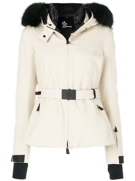 MONCLER GRENOBLE jacket fur fox women nude