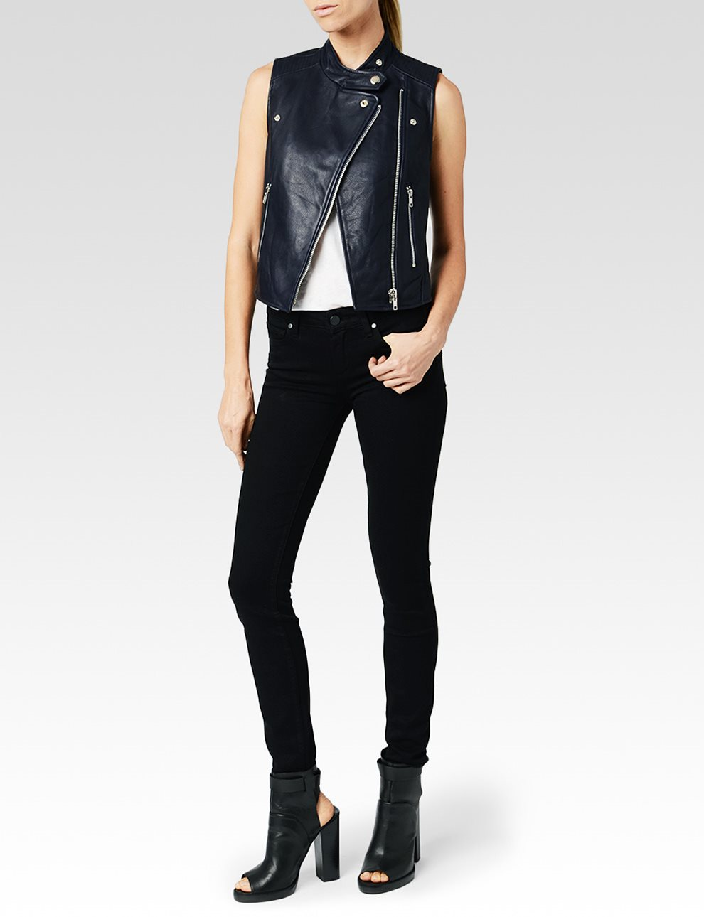 Sia Vest - Dark Ink Blue | Paige USA