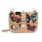 Garavani glam lock butterfly shoulder bag - women - leather/pvc/metal - one size, pink/purple, leather/pvc/metal, valentino