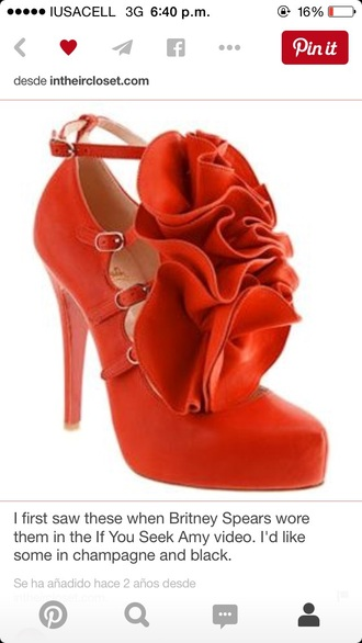 shoes louboutin britney spears shoes red pumps