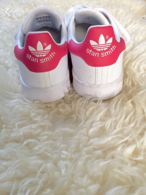 adidas Originals - Stan Smith J Ftwr White   Ftwr White   Bold Pink ... 25475289798