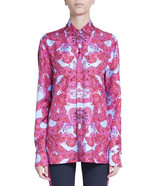 shirt studded silk top
