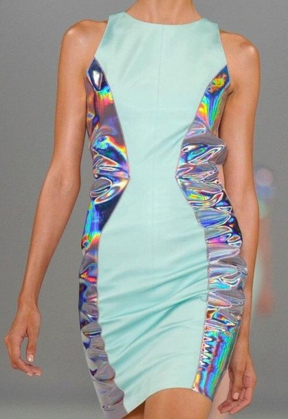 dress dope grunge style kawaii holographic