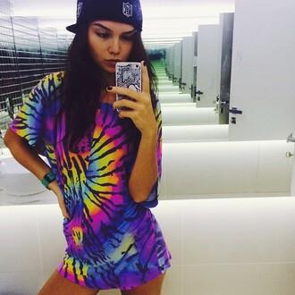 t-shirt rainbow tie dye shirt rave