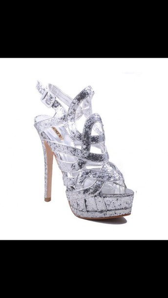 shoes silver pumps high hell