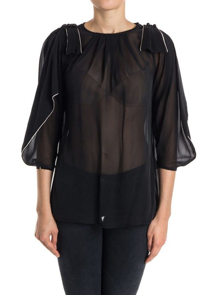 Elisabetta Franchi Celyn B. blouse silk black top