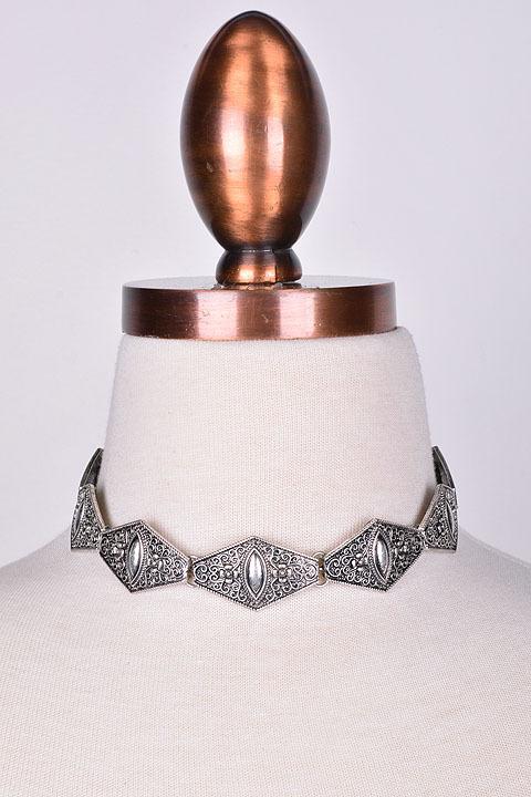 Wildflower Boho Metal Choker Necklace