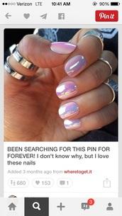 nail polish,pink nails,mirror nail polish