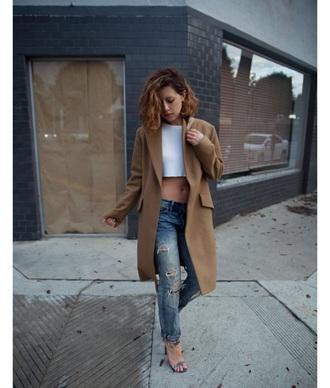 jacket brown beige jacket long trench coat brown jacket