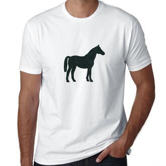 t-shirt cotton t-shirt mens t-shirt womens t-shirt white t-shirt printed t-shirt graphic tee couples t shirts menswear gift ideas horse