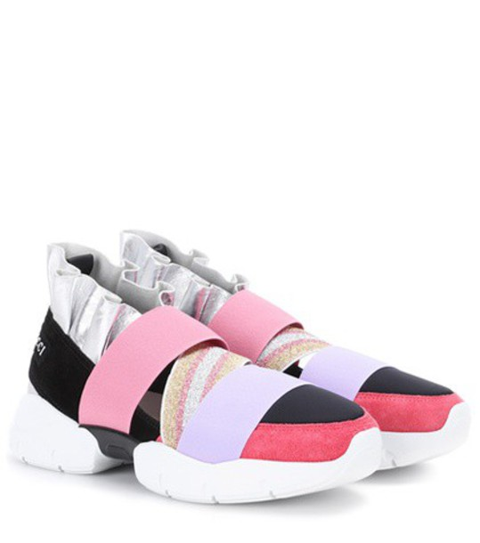 Emilio Pucci suede sneakers sneakers suede pink shoes