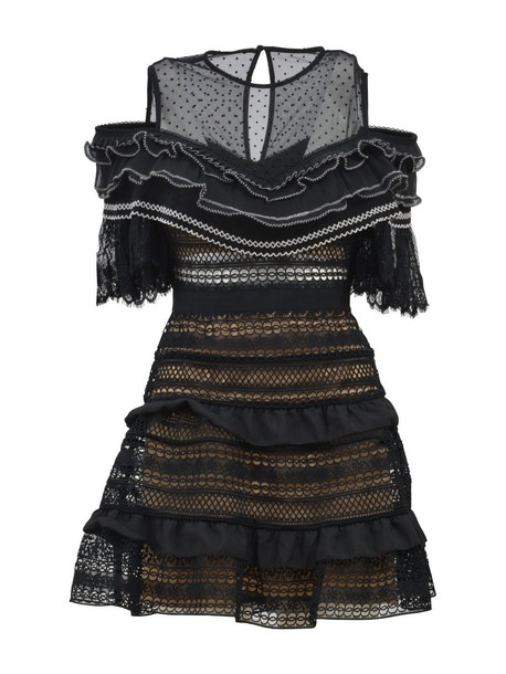 self-portrait dress lace dress lace black