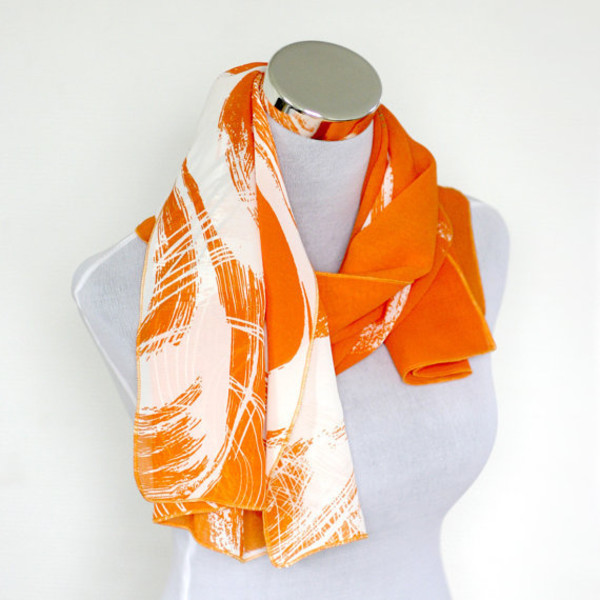 scarf, fashion 2015, infinity scarf, orange scarf, summer ...