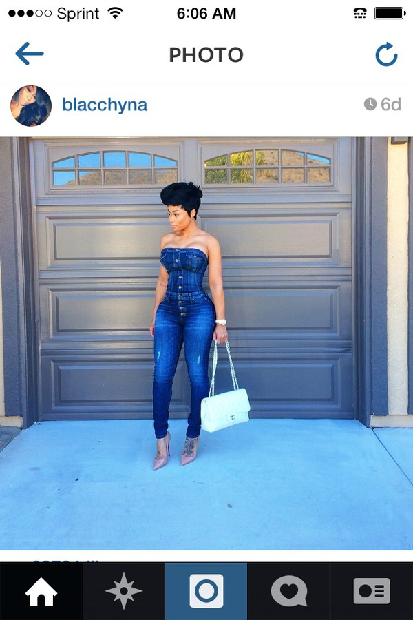 jumpsuit blac chyna jeans bodycom style