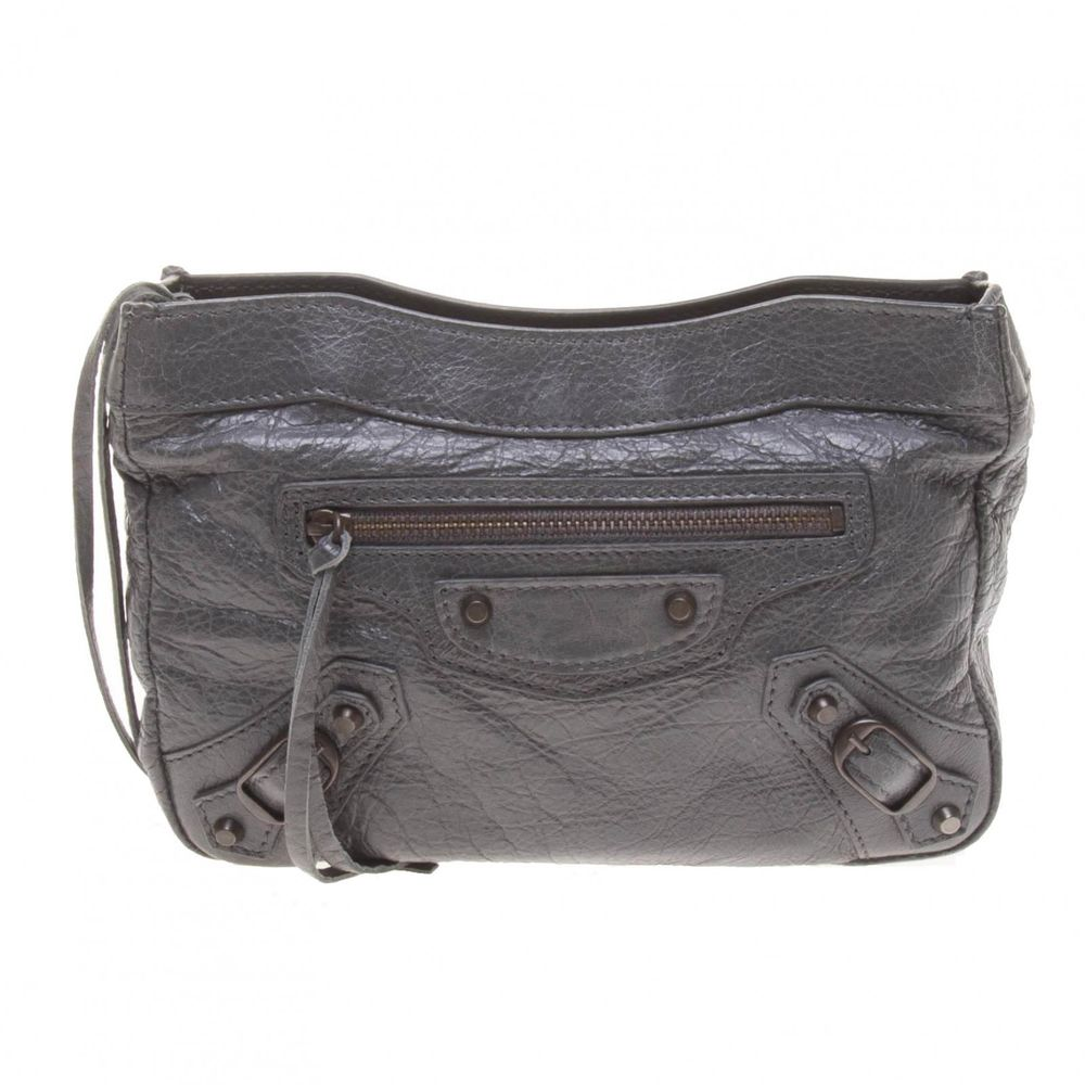 Authentic Balenciaga Dark Grey Lambskin Classic Clutch Bag | eBay